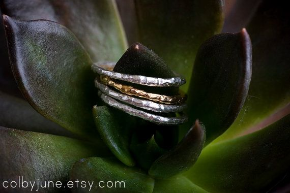 Single Silver Raw Ring | Stacking Ring | Nature Inspired Ring