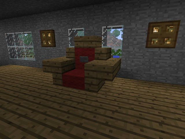 Furniture Design Minecraft built on a slab floor | amazing minecraft builds | pinterest