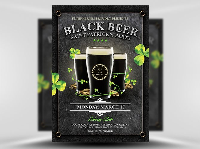 16 best St Patricku0027s Day Flyer Templates images on Pinterest - emerald flyer template