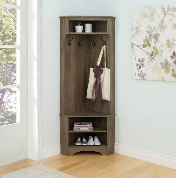 Corner Coat Rack Hall Tree Mudroom Entry Way Storage Bench Shelves Shoe Hat Hook Corner Bench With Storage Entryway Bench Storage Diy Storage Bench