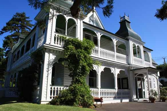 Alberton House, Mt Albert, Auckland, New Zealand.  Built by the Kerr-Taylor family in 1863.  It is now a protected house under the historic places act.  Its open to the public and just gorgeous.  Fully furnished in the style of the era, includes a seperate dairy and well.