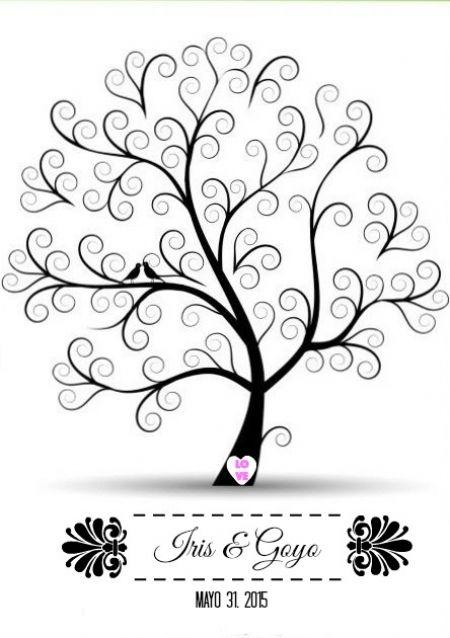 silueta de arbol de deseos - Buscar con Google
