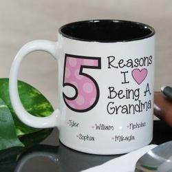 Personalized Reasons I Love Being A Mom Grandma Mug