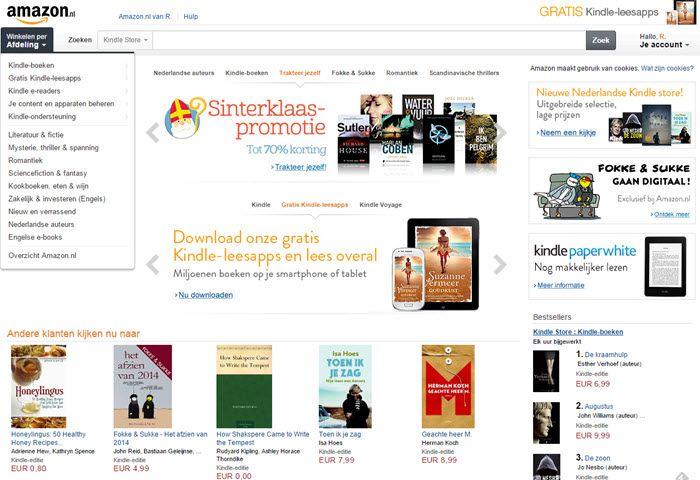 12 november 2014: Over amazon.nl en het (kunnen) lezen van Kindle ebooks