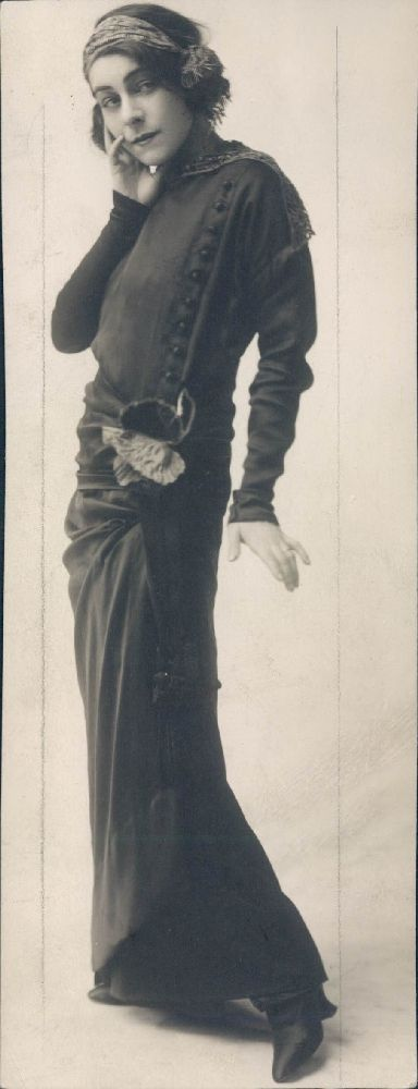Alla Nazimova, a Russian actress who emigrated to the United States in 1905