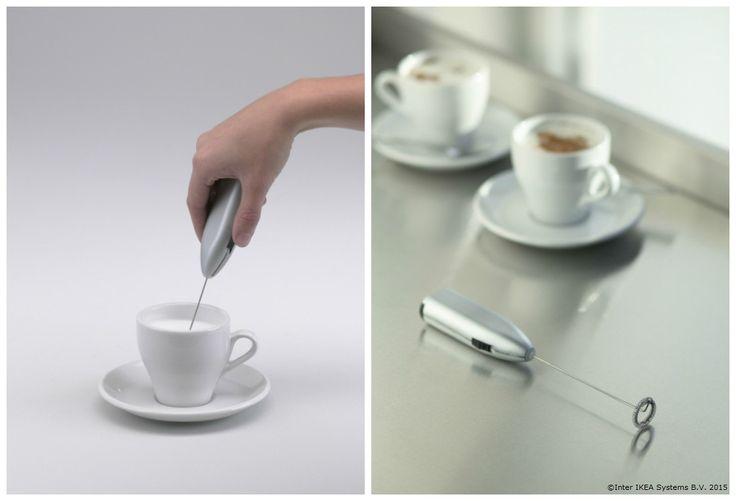 Știai că îți poți face un cappuccino delicios chiar și la tine acasă? Amestecă laptele din cafea 15-20 de secunde cu telul electric și gata! http://www.IKEA.com/ro/ro/catalog/products/30100041/