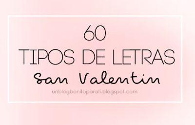 Tipos de letras para San Valentínvar ssyby='26.1.15'