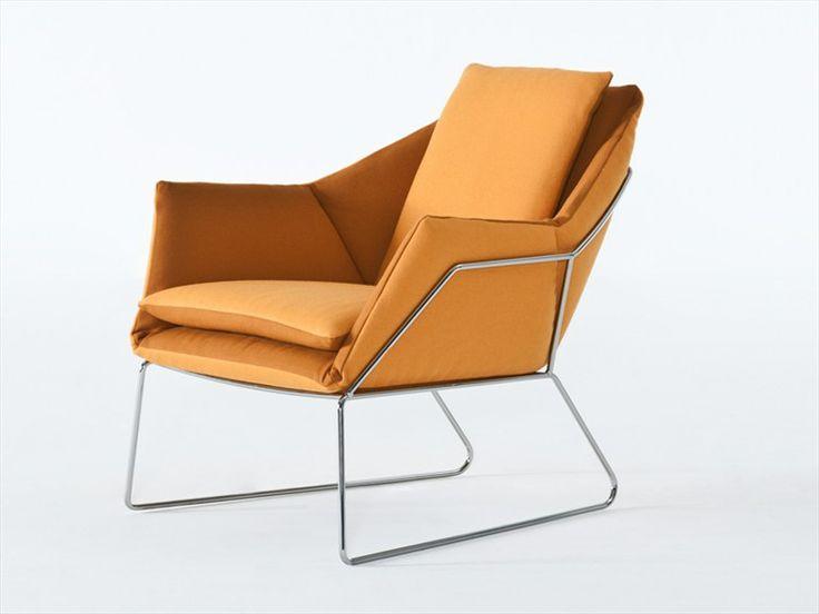 Upholstered Armchair NEW YORK By Saba Italia | Design Sergio Bicego (2012).  Orange MöbelMöbeldesignModerne MöbelSesselItalienNew YorkStrandRelax ...