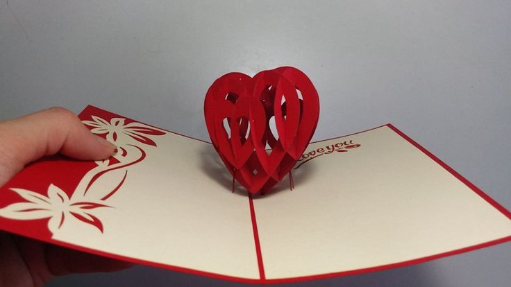 how to make 3d heart valentine day pop up card  aoc craft
