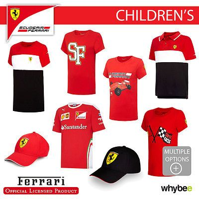 #Ferrari f1 #formula one team childrens t-shirts & #polo's kids boys full range!,  View more on the LINK: 	http://www.zeppy.io/product/gb/2/182370825469/