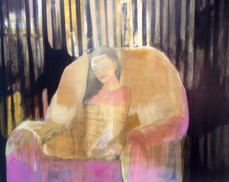 Cathrine Boman - Som i en skog- Acryl på lerret, 90 x 100 cm
