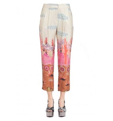 So Allure - Pantalone - 291402 - Fantasia - 167,00 € Pantalone in viscosa con pinces.Stampa fantasia multicolore.Tasche laterali.Chiusura con zip e gancetto.Gamba dritta e lunghezza alla caviglia.Larghezza fondo: 17 cm.Composizione tessuto: 100% viscosa.Made in Italy.La modella indossa la taglia 40 ed è alta 174 cm.