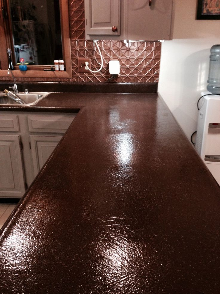 After Coffee Bean Spreadstone Countertop Refinishing