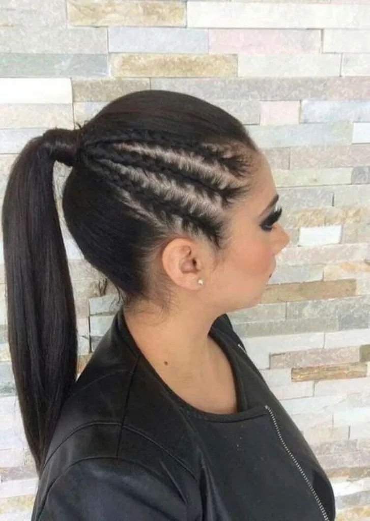 18 Braids Hairstyle & Quiffed Ponytail Hairstyle Ideas – homeinspireandideas.com #BraidHairstyleDesignIdeas #QuiffedPonytailBraidHairstyleDesignIdeas #BestBraidHairstyleDesignIdeas