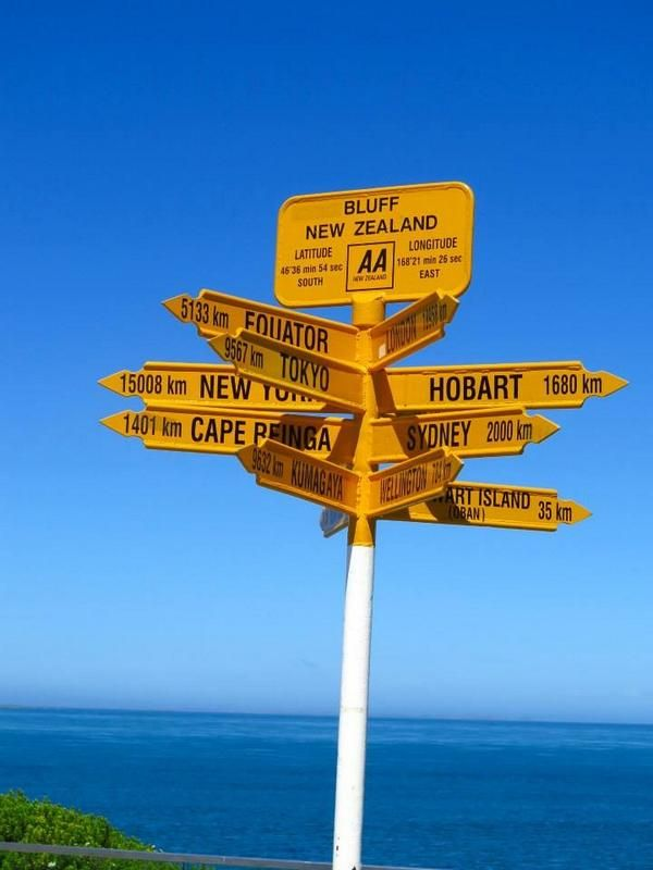 "18/7/14 From @MontVillageTrav: ""If you're lost on the southern tip of #NewZealand follow the #sign #frifotos #adventuretravel """