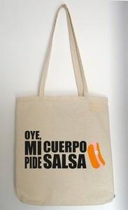 Chachachá Handmade ★ Bolso de tela //Oye, mi cuerpo pide salsa/