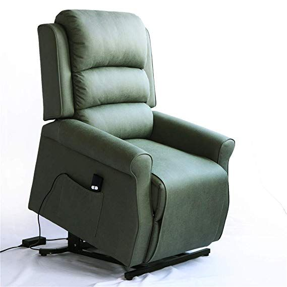 Amazon Com Irene House Modern Transitional Electric Power Lift Recliner Chair With Soft Breathable Fabric Sage Kitch Lift Chair Recliners Chair Lift Chairs