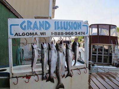 Charter Boat Fishing, Algoma, Wisconsin