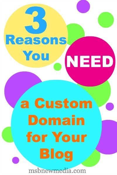 3 Reasons You Need a Custom Domain for Your Blog #blog #blogger #blogging #customdomain #blogtips #bloggingtips