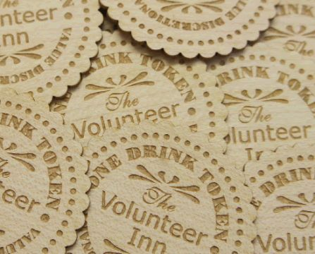 Engraved Wooden Tokens