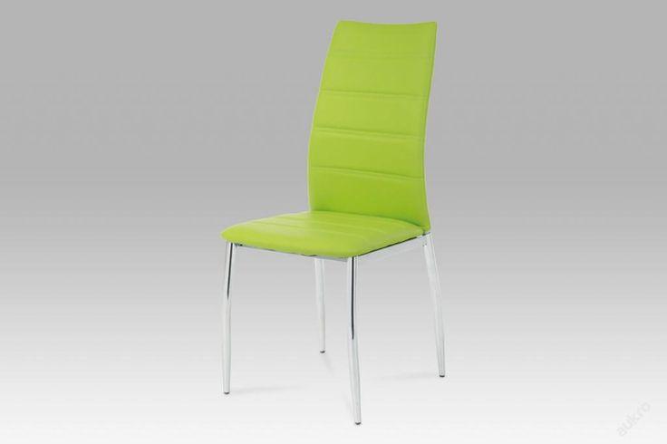 Kovová jídelní židle chrom+ zelená koženka VOM-065 (6761602559) - Aukro - největší obchodní portál