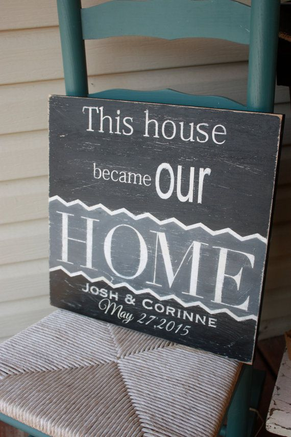 personalized housewarming gift sign this house became our home custom sign new home rustic hand painted home decor - Custom Signs For Home Decor