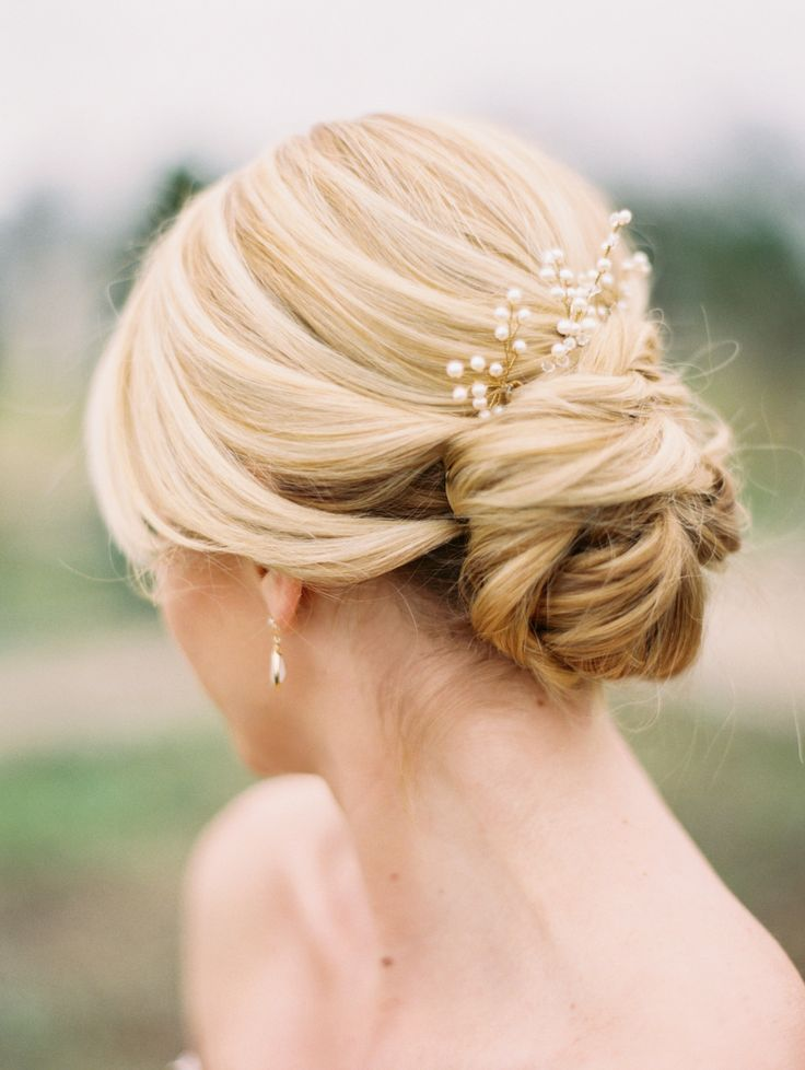 Wedding day hair  Read More on SMP: http://www.stylemepretty.com/2015/04/03/whimsical-spring-wedding-inspiration/