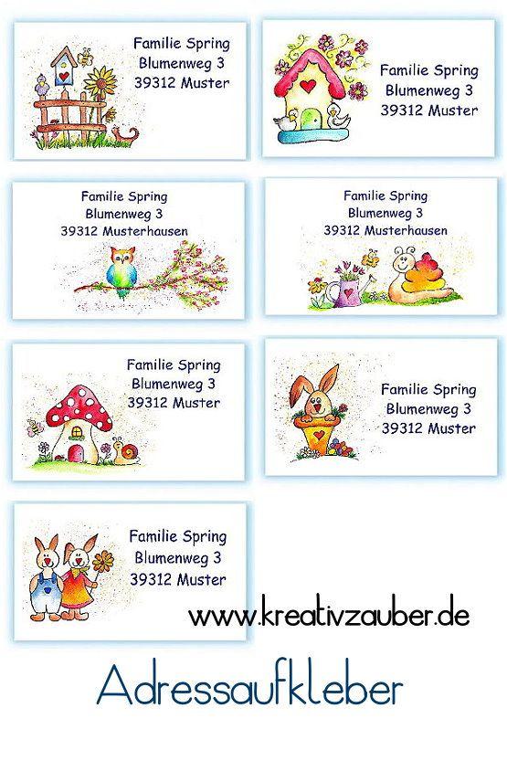 Neuheiten Ostern Frühling 2018 Im Adressaufkleber Shop Www