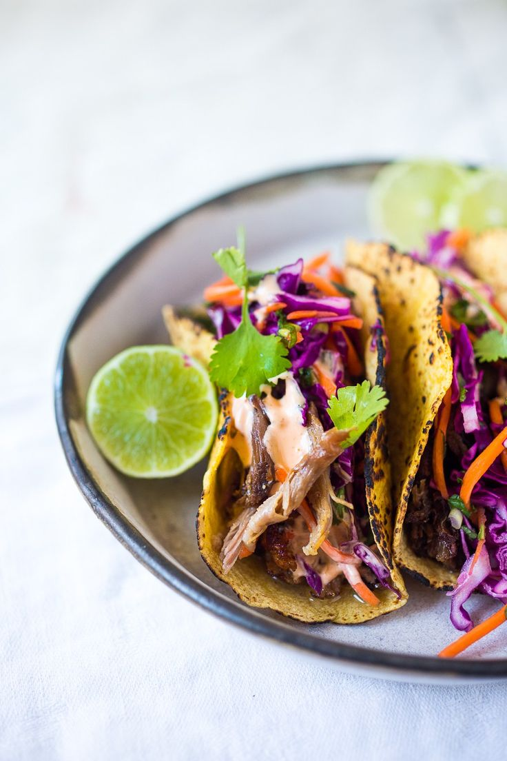 Pork Tenderloin Tacos With Tangy Slaw Recipe — Dishmaps