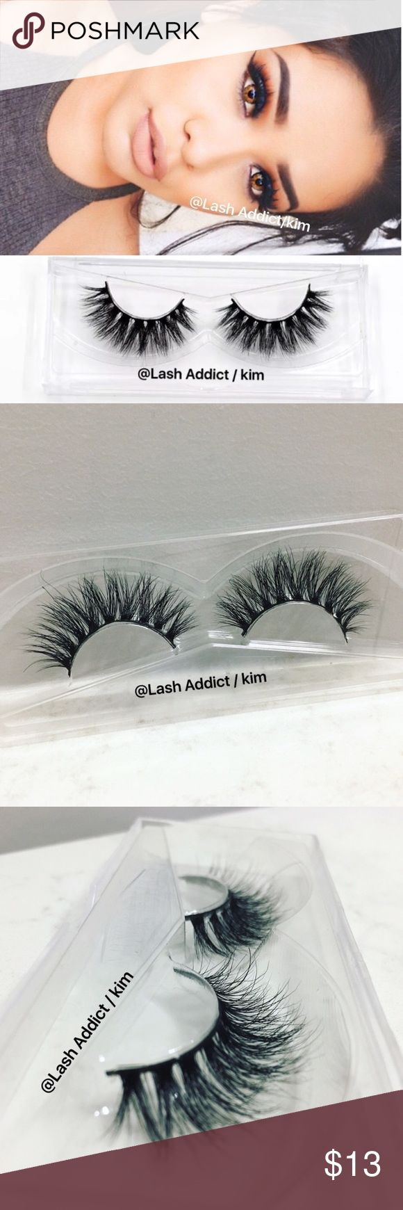 Mink lashes mink eyelashes lilly lashes velour new ❤ READ,  before purchasing ❤  LashAddict / Kim   Brand New  Flutter Lashes ✨ Dupe for Lilly Lashes Mykonos / Miami ✨  PRICE IS FIRM + ADD GLUE $3  •100% Real Mink Fur Strip Lashes •High Quality Lashes •Will last up to 25 applications, handle with care. •All pictures are mine •Cotton Band  No glue Makeup False Eyelashes