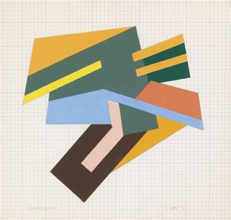 "primary-yellow: "" FRANK STELLA 1. BECHHOFEN (SKETCH), 1973 2. CIESZOWA (SKETCH), 1973 3. UZLANY (SKETCH), 1973 """