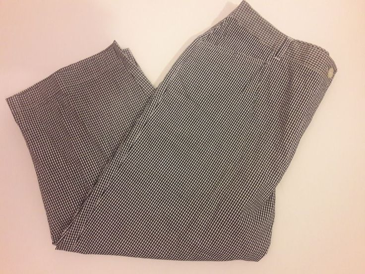 Liz Claiborne Pants Checker Black and White Cropped Pant Size 12 #LizClaiborne #CaprisCropped