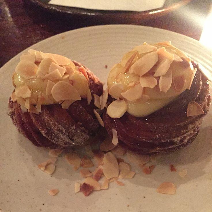 Andre's Cucina and Polenta Bar, Zeppole accompanied with vanilla custard, caramello and almonds - Little J's Adventures