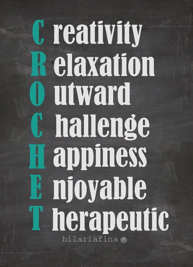 Reasons to Crochet ✭Teresa Restegui http://www.pinterest.com/teretegui/ ✭