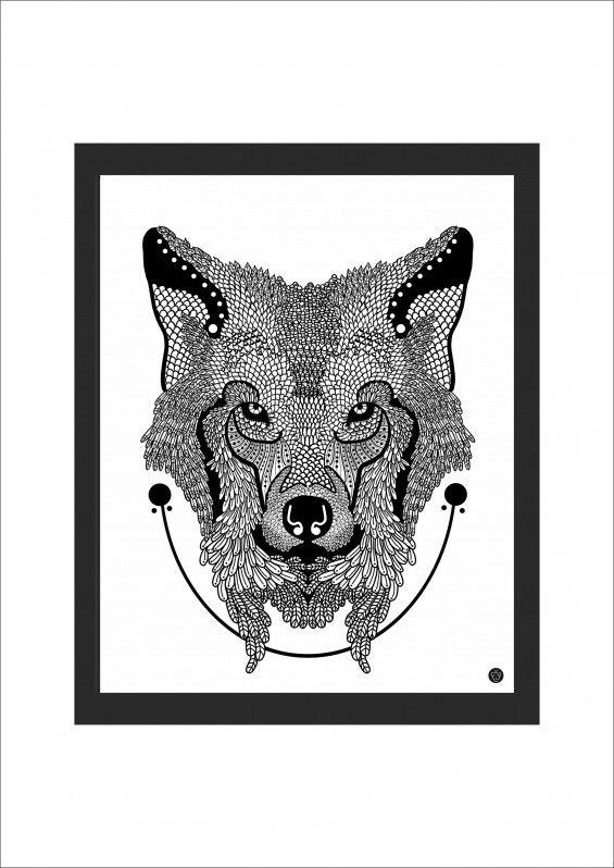 Grafika Zwierzu z Polski - Wilk