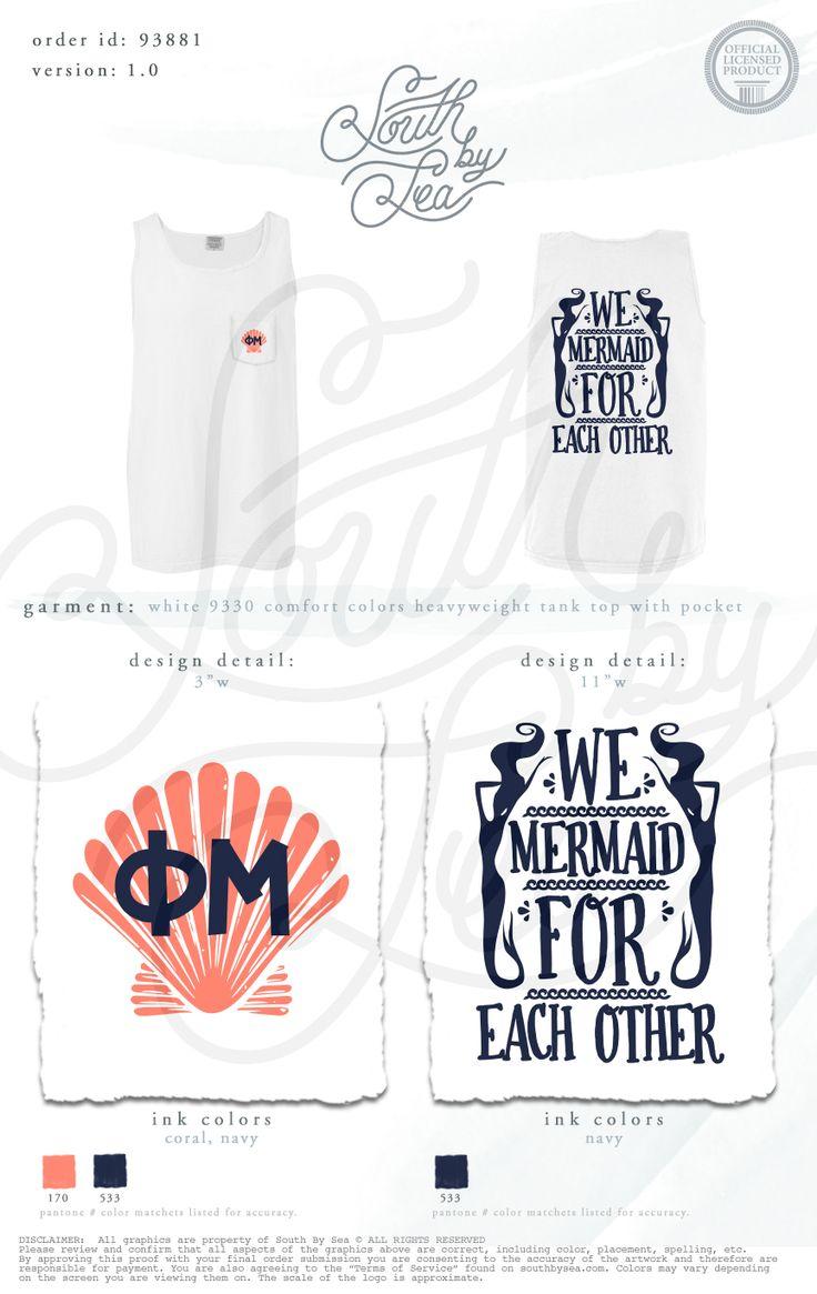 Phi Mu Mermaid For Each Other #phimu #phimusummershirts #southbysea #southbyseaoriginals #sororityshirts #sororitytshirts #greektshirts #sororitysummershirts #PRshirts
