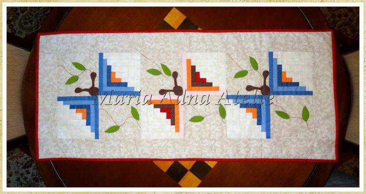 Butterfly Log Cabin Table Runner Patchwork Pinterest