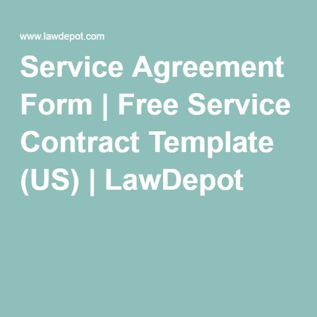 Service Agreement Form Free Service Contract Template (US - free service agreement template