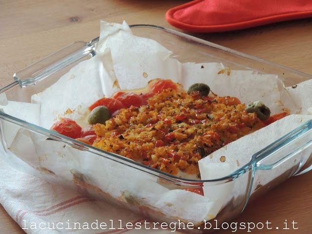 La cucina delle streghe: Filetti di merluzzo panati con pachino e basilico