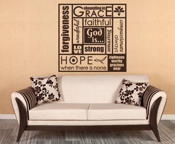 34 best christian scripture art wall words bible verse decals images on pinterest bible. Black Bedroom Furniture Sets. Home Design Ideas