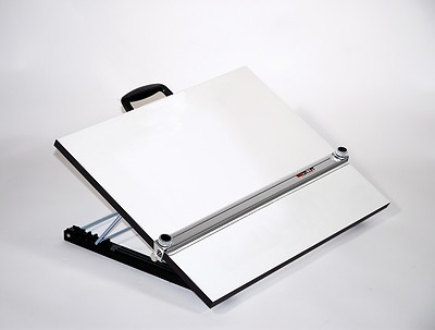 Adjustable Angle Portable Drafting Table with Straightedge Drawing Board Desk | eBay