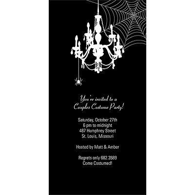 Party Invitation by Miss Havisham? Chandelier Net - Scary Halloween Party Invitation