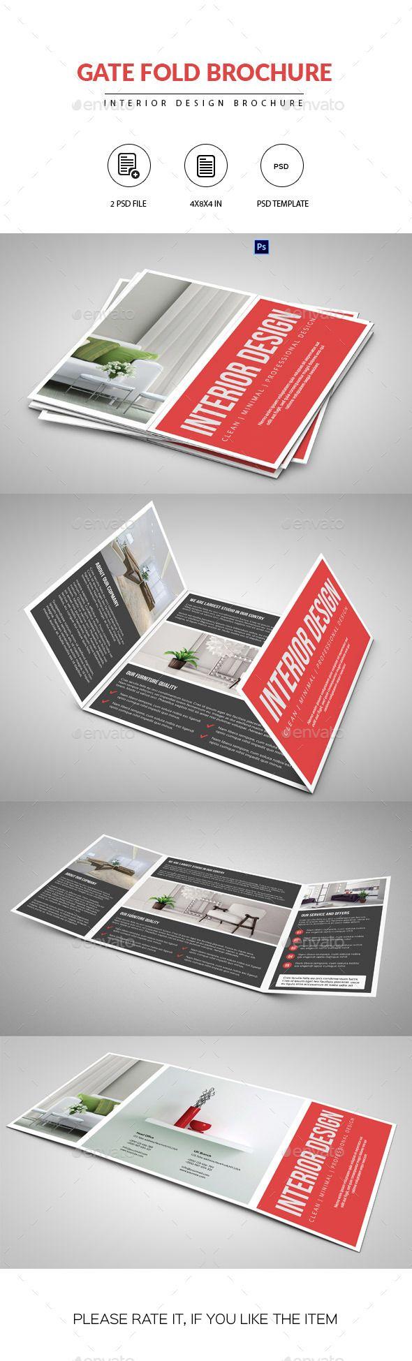 Square Gate Fold Brochure Interior Design