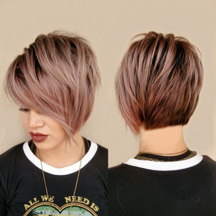 Rose Gold Short Hair