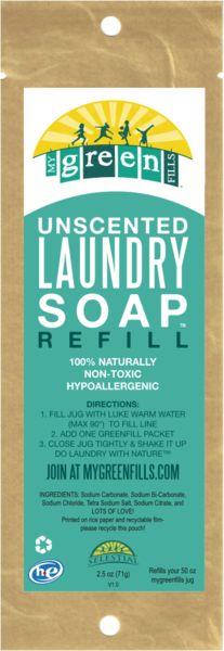 A marca americana Mygreenfills levou a sério o desafio de criar produtos de lavanderia ecológicos e inovadores. Desenvolveu uma linha de artigos não tóxicos, hipoalergênicos, livre de testes em animais e com refil de papel a preços acessíveis (cerca de R$ 0,38 por lavagem).