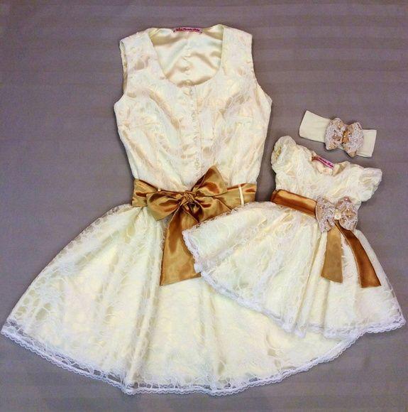 Vestido em Renda Mãe e filha