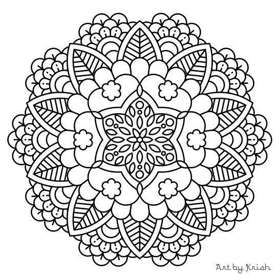 104 Printable Intricate Mandala Coloring Pages от KrishTheBrand
