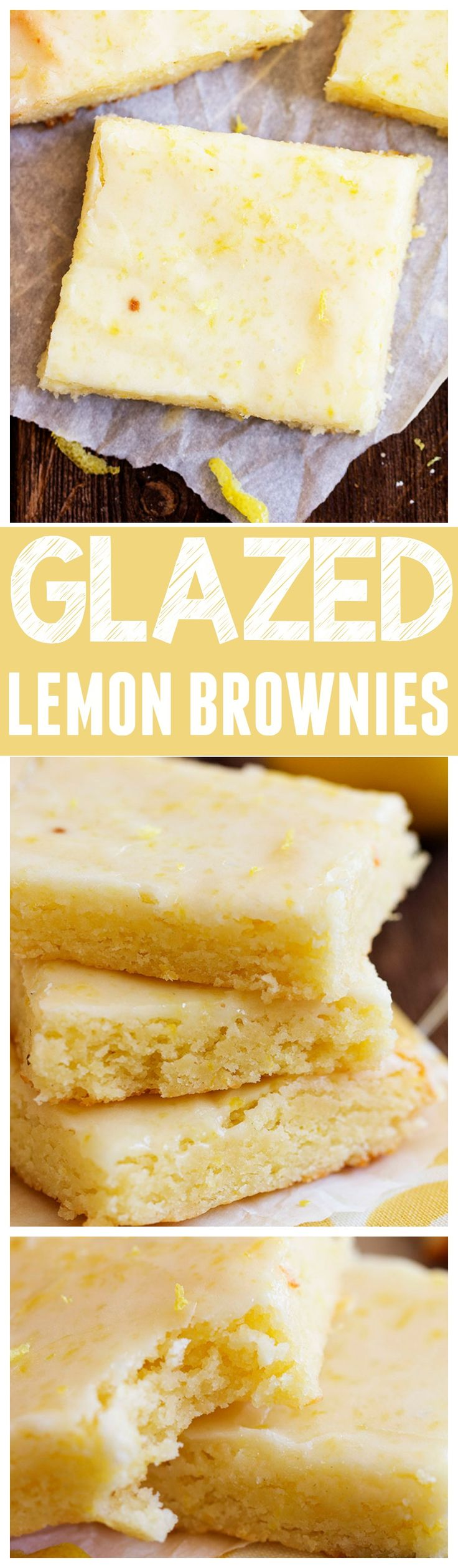 Glazed Lemon Brownies (substitute pineapple juice?)