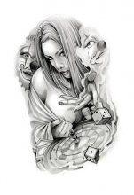 Стиль татуировки чикано. Эскизы тату в стиле чикано