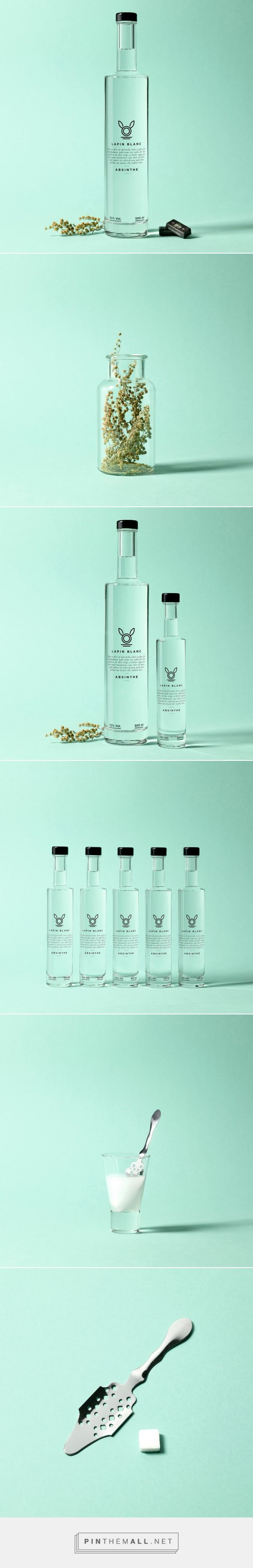 Lapin Blanc Absinthe (Concept) - Packaging of the World - Creative Package Design Gallery - http://www.packagingoftheworld.com/2016/07/lapin-blanc-absinthe-concept.html